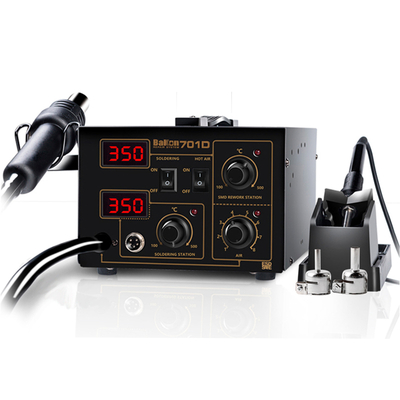 Bakon 2 in 1 750W adjustable temperature soldering station